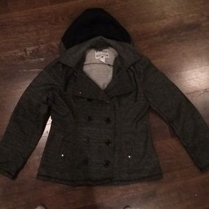 Mid weight jacket, grey and black, size XL